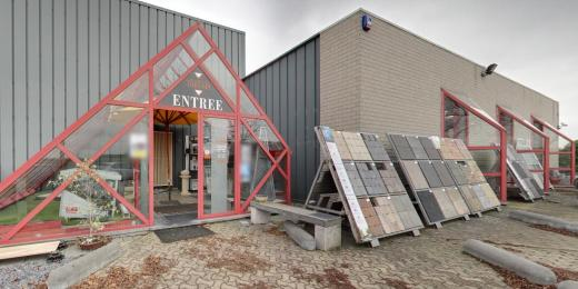 Showroom des carrelages Maman Theunis à Hélécine en Brabant wallon