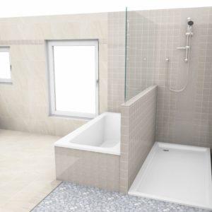 Advies en begeleiding bij de keuze van tegels met een plan in 3D