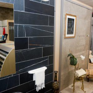 Indoor showrooms van tegels
